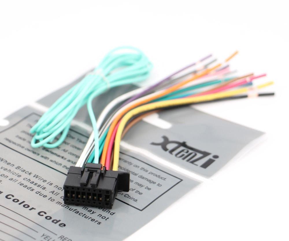 Xtenzi 16 Pin Radio Wire Harness for  Pioneer DEH-150MP, DEH-15MP & More