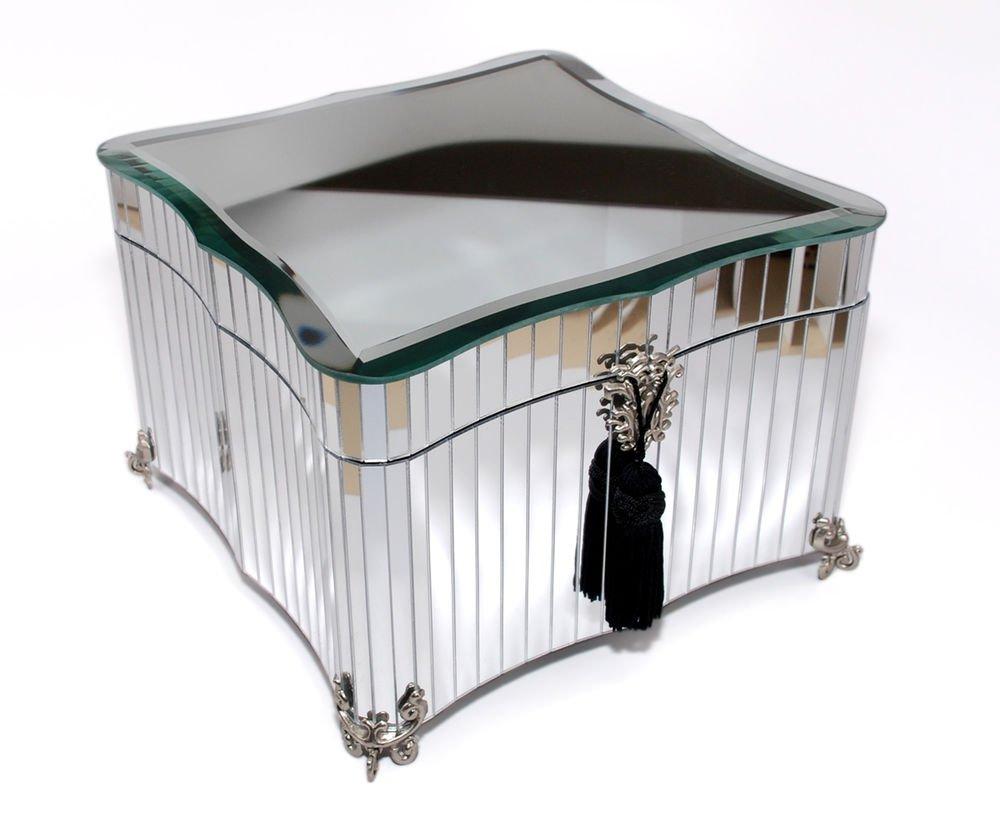 Decorebay Hand made Glass Glamour Mirrored Jewelry Box
