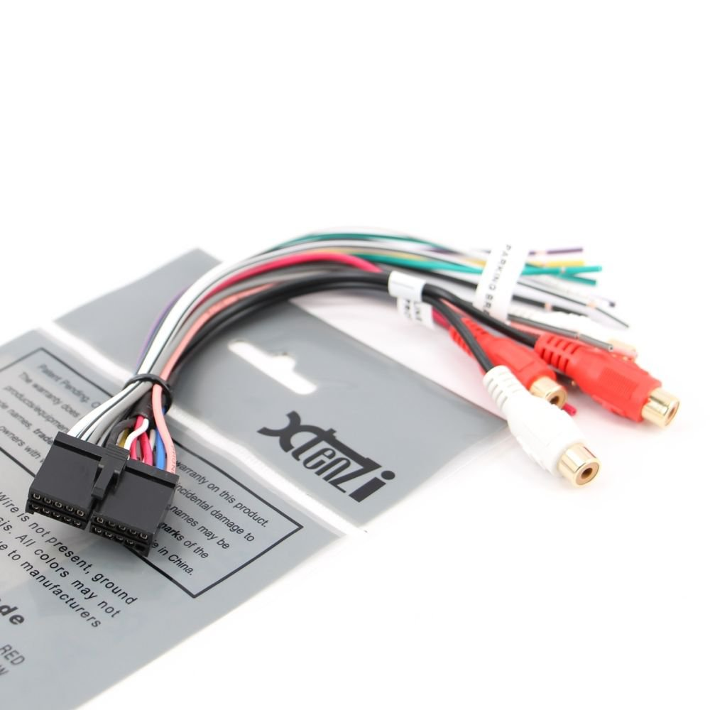 Xtenzi 20 Pin Dual Wire Harness XDVD8180 XHD6420 XDM6830 WIRE WIRING HARNESS