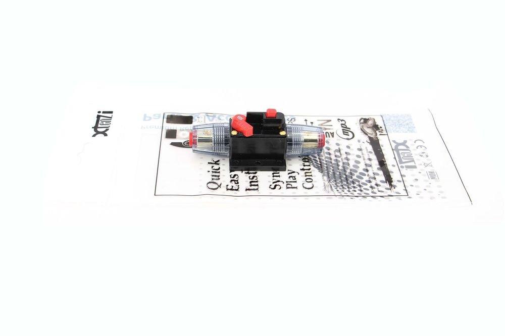 Xtenzi 50A Car Audio Inline Circuit Breaker Fuse (12V DC)