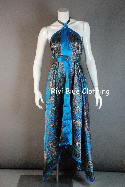 Scarf Dress Sil Multi Wear Maternity Blue