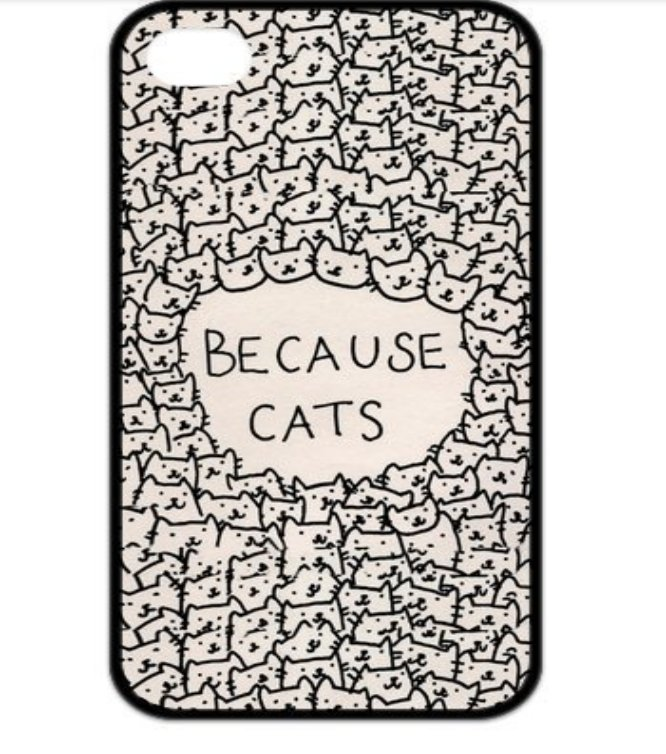 Silicone Design Funny Because Cats Case for iphone 4 4s