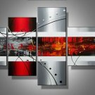 Philadelphia -Abstract-handmade painting-set of 4pcs