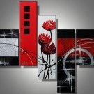 Phi Phi -Abstract , Botanical-handmade painting-set of 5pcs