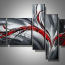 Lolo -Abstract-handmade painting-set of 5pcs