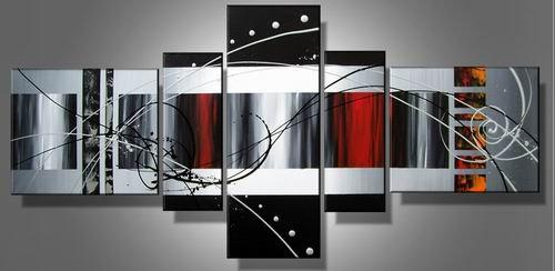 Smash -Abstract-handmade painting-set of 5pcs