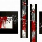 Nagano -Abstract-handmade painting-set of 4pcs