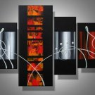Illusion -Abstract-handmade painting-set of 4pcs