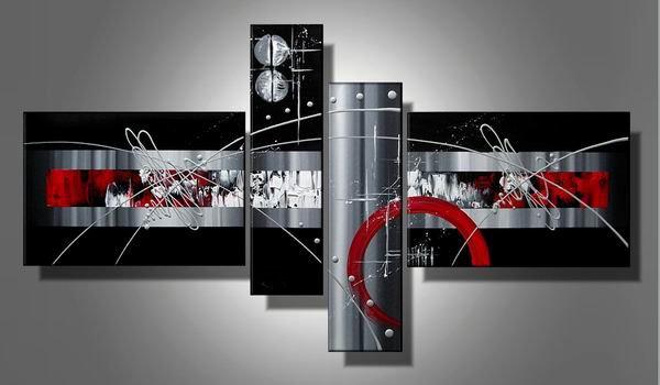 Blackjack -Abstract-handmade painting-set of 4pcs