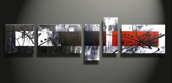 Redman -Abstract-handmade painting-set of 5pcs
