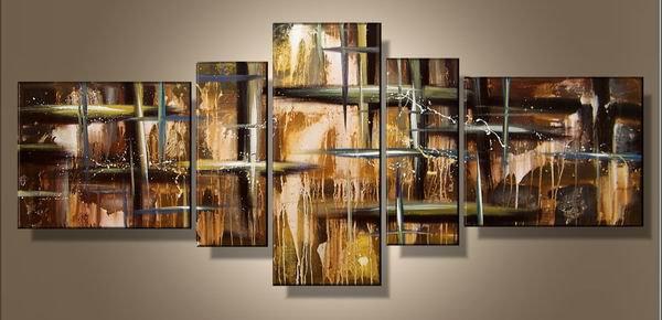 Shining star -Abstract-handmade painting-set of 5pcs