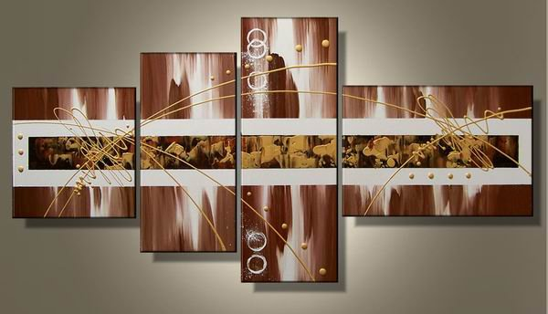 Sahara Dream -Abstract-handmade oil painting-set of 4pcs