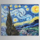 The Starry Night-Oil on canvas paintings-Vincent Van Gogh-reproduction