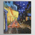 Cafe Terrace at Night-Oil on canvas paintings-Vincent Van Gogh-reproduction