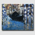 Blue Venice-abstract landscape-handmade oil painting on canvas-reproduction-Edouard Manet