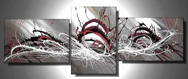 Ocean -Abstract , Landscape-handmade oil painting-set of 3pcs