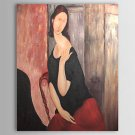 Jeanne Hebuterne-Oil on canvas painting-Amedeo Modigliani-reproduction