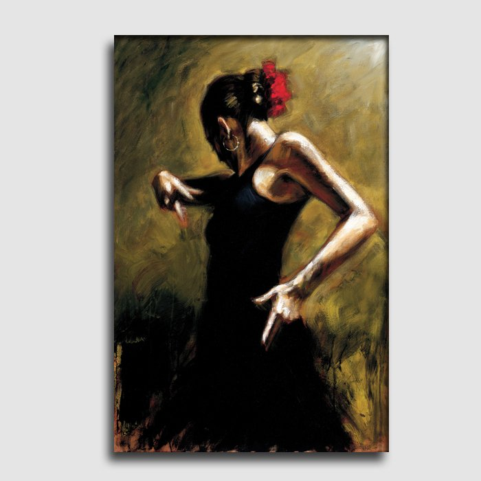 Dancer in black-people-textured painting-oil painting on canvas-handmade