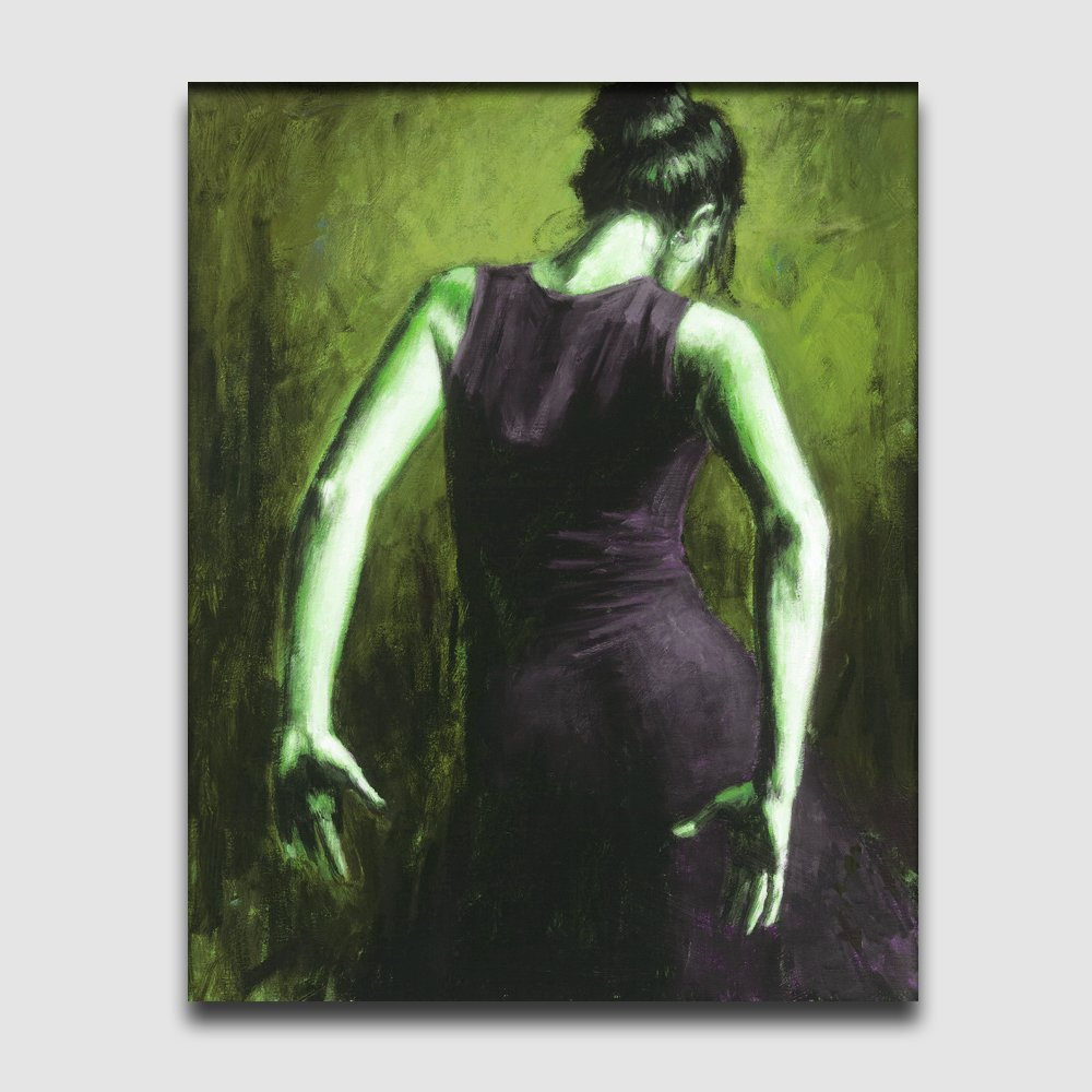Dancer-people-textured painting-canvas oil painting handmade
