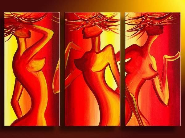 Sensual -People-handmade oil painting-set of 3pcs