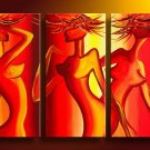 Sensual -People-handmade oil painting-set of 3pcs