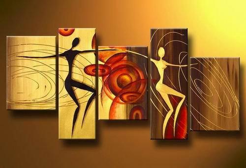 Inglewood -People-handmade painting-set of 5pcs