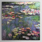 Water Lilies-botanical floral-handmade painting on canvas-reproduction-Claude Monet