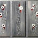 Flowers Elegant white flowers -Botanical-handmade painting-set of 3pcs