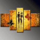Romance -People , Animal-handmade painting-set of 5pcs
