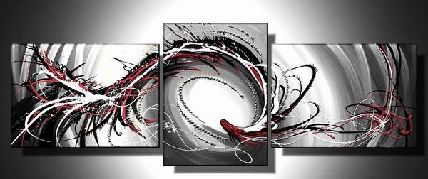 Winter -Abstract-handmade oil painting-set of 3pcs