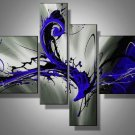 Blue Storm -Abstract-handmade painting-set of 4pcs
