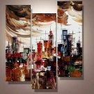 Sky City -Abstract , Landscape-handmade painting-set of 3pcs
