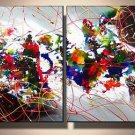 Mumbai -Abstract , Landscape-handmade painting-set of 4pcs