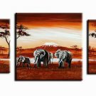 Africa Landscape -Landscape , Botanical , Animal-handmade painting-set of 3pcs