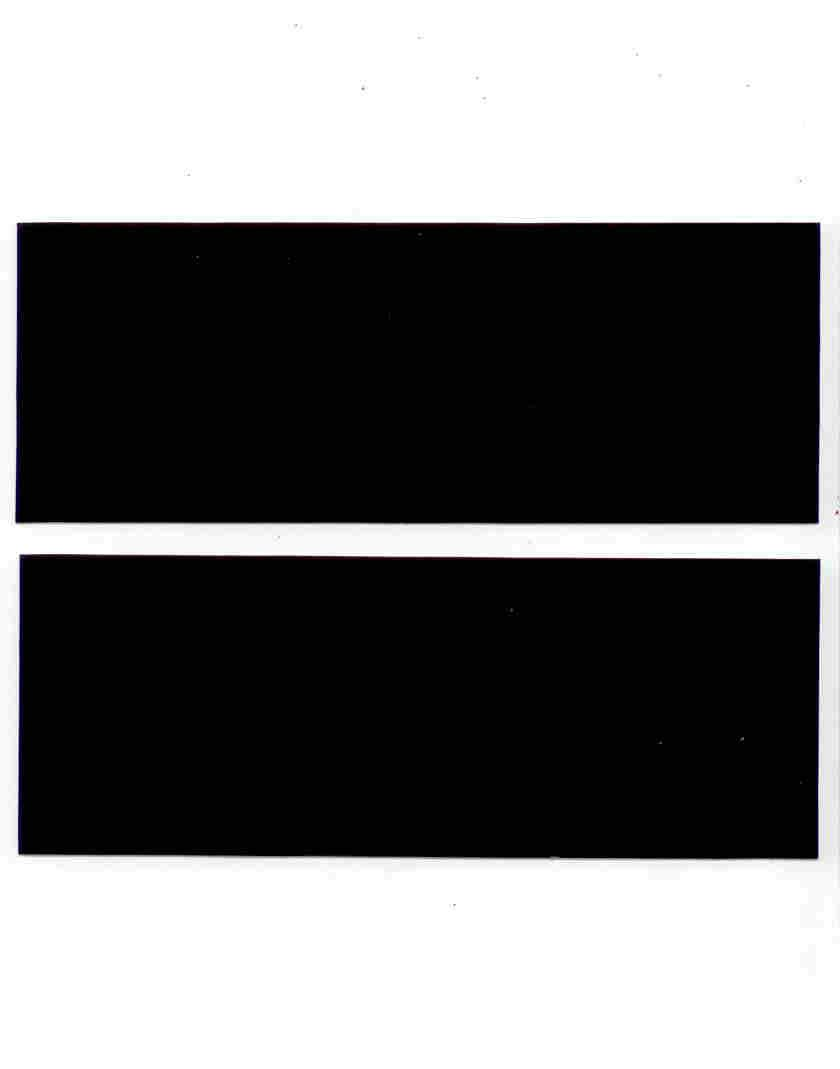 3M Reflective Black Tape Type 680 ~ 2 SHEETS ~ Motorcycle Bicycle Helmet