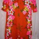 Hawaiian Print Shift Reef Hawaii Column Dress Tropical Deadstock NOS Vintage 60s