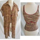 Tankini Top and Matching Dress NWT New with Tag Pilpel Animal Print 8 Coverup