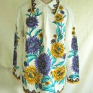 Lady Caper Mates Vintage 60s Deadstock NOS Bold Floral  Asters Tunic Mini Dress