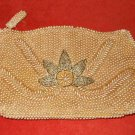 Vintage Beaded Bag Japanese Clutch Allover Pearls Canadian Oak Leaf Deadstock