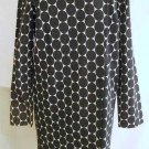 Nos Rebecca Moses Wrap Dress Oversize Large Dot Dotted Black White Tunic Coat S
