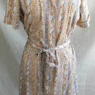 Bombshell  Sexy Vintage 60s NOS Belted Gored Shirt Dress M Adorable Sash Belt