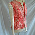 St John Sport Marie Gray Deadstock Bomber Jacket & Camisole Coral Animal Print M