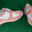 Stuart Weitzman Sneakers Training Shoes Athletic Lace Up Suede 9.5M Silver Pink