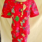PLUS Size Ungaro PRINT Skirt Suit NOS Vintage 80s Whimsical Summer 14 PLUS