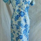 Vintage 50s NOS Couture Print Wiggle Sheath Asian Summer Dress Bold Floral
