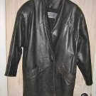 North Beach Leather Jacket  Cocoon Dolman Buttery Black Leather Coat Vintage 80s