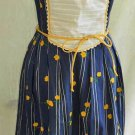 Vintage 60s BIB Pinafore Corset Sun Dress NOS Fit Flare Sexy Deadstock Act 1 10