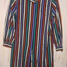 Pierre Balmain NOS Stripe Shirt Dress Flap Pocket Sexy Fluid Logo Vintage 70s