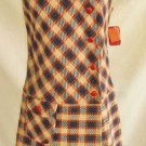 Dropped Waist Vintage 60s Deadstock Tartan New with Tag Dress Plaid Pepper Tree