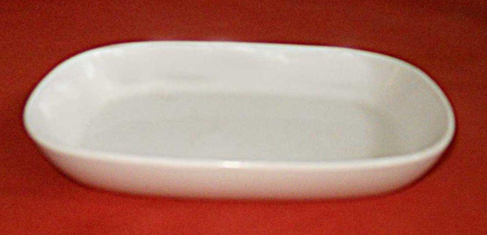 Delta Vintage White China Serving Cooking Rectangular Dish 7� Original Airline